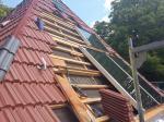 Solarthermie-Anlage im Bau